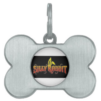 Silly Rabbit Pet Name Tag