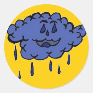 Silly Raincloud Classic Round Sticker
