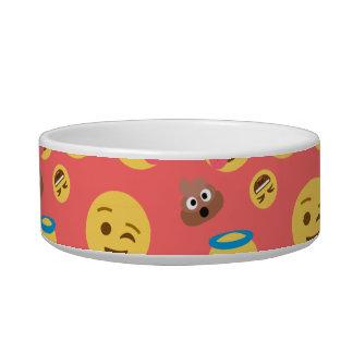 Silly Red Emoji Pattern Bowl