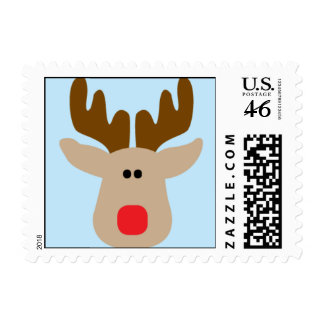 Silly Reindeer Postage Stamps