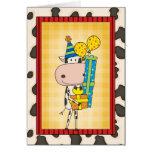 Silly Rhyming Birthday Cow Western Greeting Card