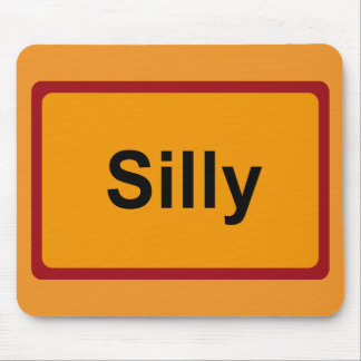 Silly, Road Sign, Belgium Mouse Pad