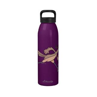 silly roadrunner bird cartoon drinking bottle
