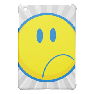silly sad face smiley yellow and blue case for the iPad mini