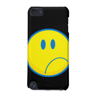 silly sad face smiley yellow and blue iPod touch (5th generation) covers