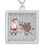 silly santa and christmas donkey custom jewelry