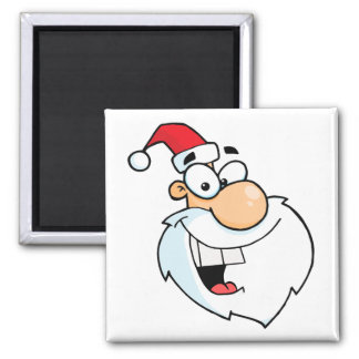 silly santa cartoon magnet