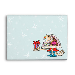 cartoon santa claus christmas envelopes zazzle