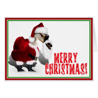 Silly Santa Goose - A Web Footed Christmas Card