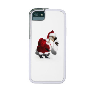 Silly Santa Goose - A Web Footed Christmas iPhone 5 Cases