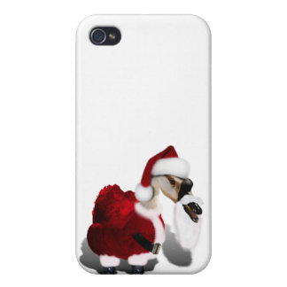Silly Santa Goose - A Web Footed Christmas Covers For iPhone 4
