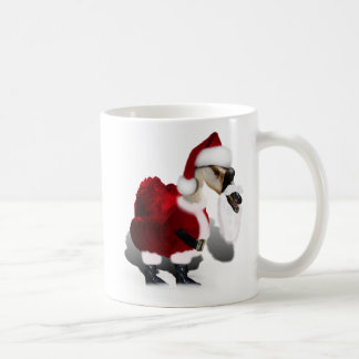 Silly Santa Goose - A Web Footed Christmas Mugs