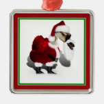 Silly Santa Goose - A Web Footed Christmas Christmas Ornament