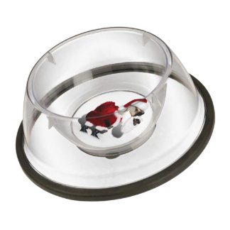 Silly Santa Goose - A Web Footed Christmas Pet Bowl