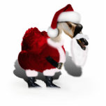Silly Santa Goose - A Web Footed Christmas Photo Sculpture