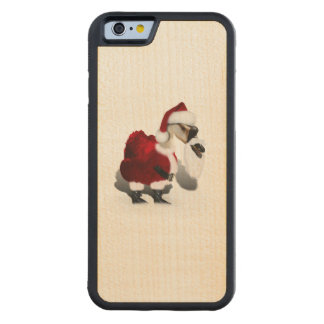 Silly Santa Goose - A Web Footed Christmas Carved® Maple iPhone 6 Bumper