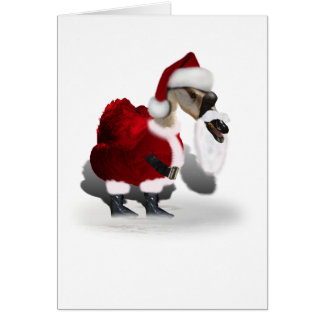 Silly Santa Goose Greeting Cards