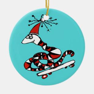 Cute Snake Christmas Ornaments Zazzle 100 Satisfaction Guaranteed