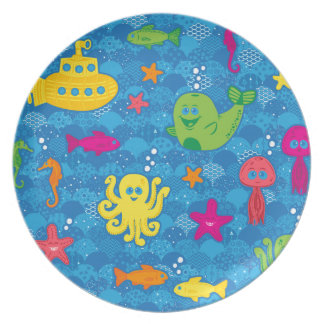 Silly Sea Creatures Dinner Plate