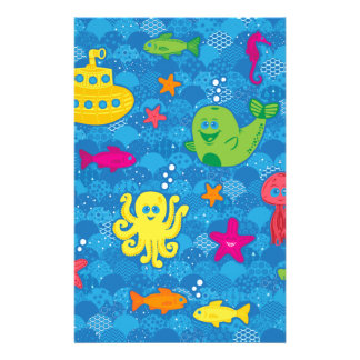 Silly Sea Creatures Stationery