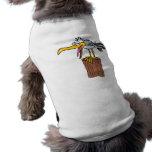 silly seagull cartoon doggie shirt