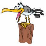 silly seagull cartoon photo sculpture