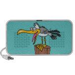 silly seagull cartoon portable speaker
