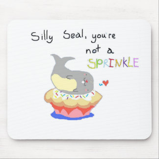 Silly Seal Cupcake Mouse Pad
