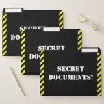 "[ Thumbnail: Silly ""Secret Documents!"" File Folder Set ]"
