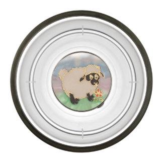 silly sheep art pet bowl
