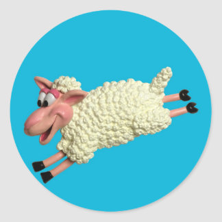 Silly Sheep Classic Round Sticker