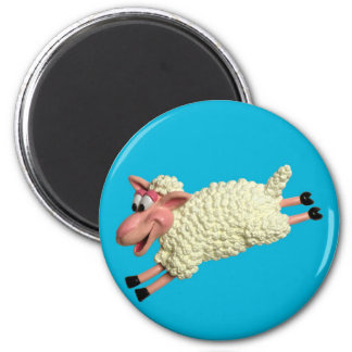 Silly Sheep 2 Inch Round Magnet