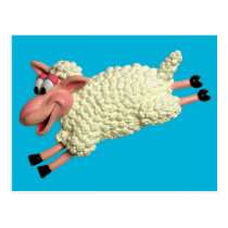Silly Sheep Postcard