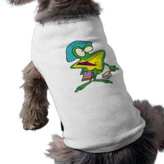 silly shower tubby bath froggy frog cartoon dog t shirt