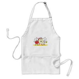 silly singing food adult apron