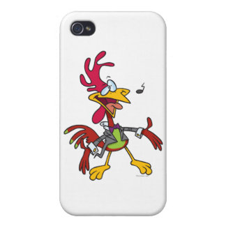 silly singing rooster cartoon iPhone 4/4S cases