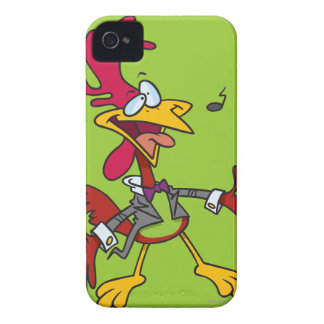 silly singing rooster cartoon iPhone 4 Case-Mate case