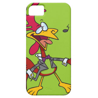 silly singing rooster cartoon iPhone 5 case