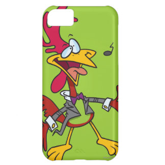 silly singing rooster cartoon iPhone 5C cases