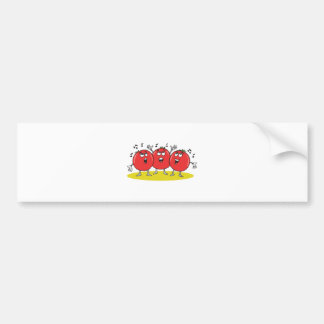silly singing tomatoes trio bumper sticker