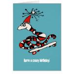 Silly Skateboard Snake Birthday Card