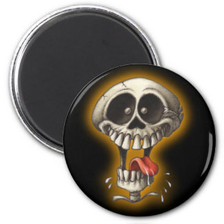 Silly Skull! 2 Inch Round Magnet