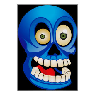 Silly Skull Poster