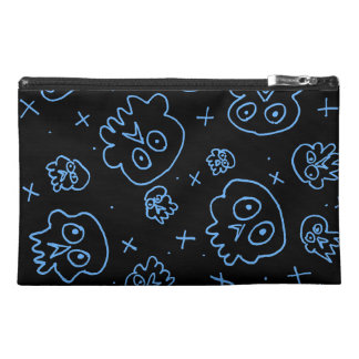 silly skulls blue travel accessories bag