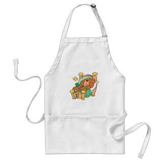 silly sleeping teddy bear design adult apron