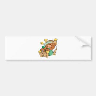 silly sleeping teddy bear design car bumper sticker