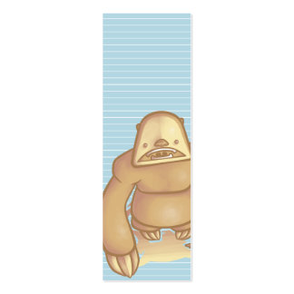 Silly Sloth Bookmark Business Card Template