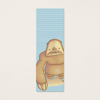 Silly Sloth Bookmark Mini Business Card