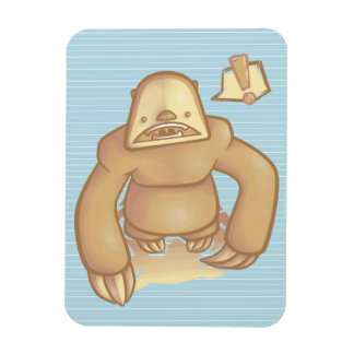 Silly Sloth Rectangular Photo Magnet