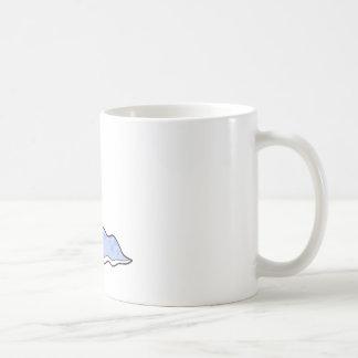 silly sluggy blue monster classic white coffee mug
